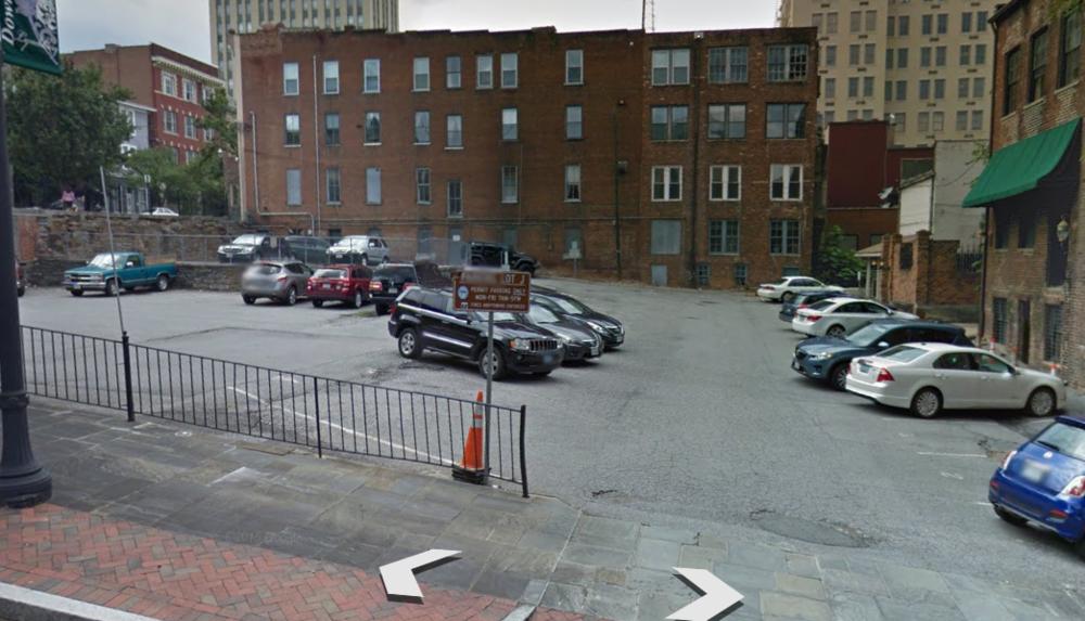 Lot J Parking Lot entrance on 9th St.
