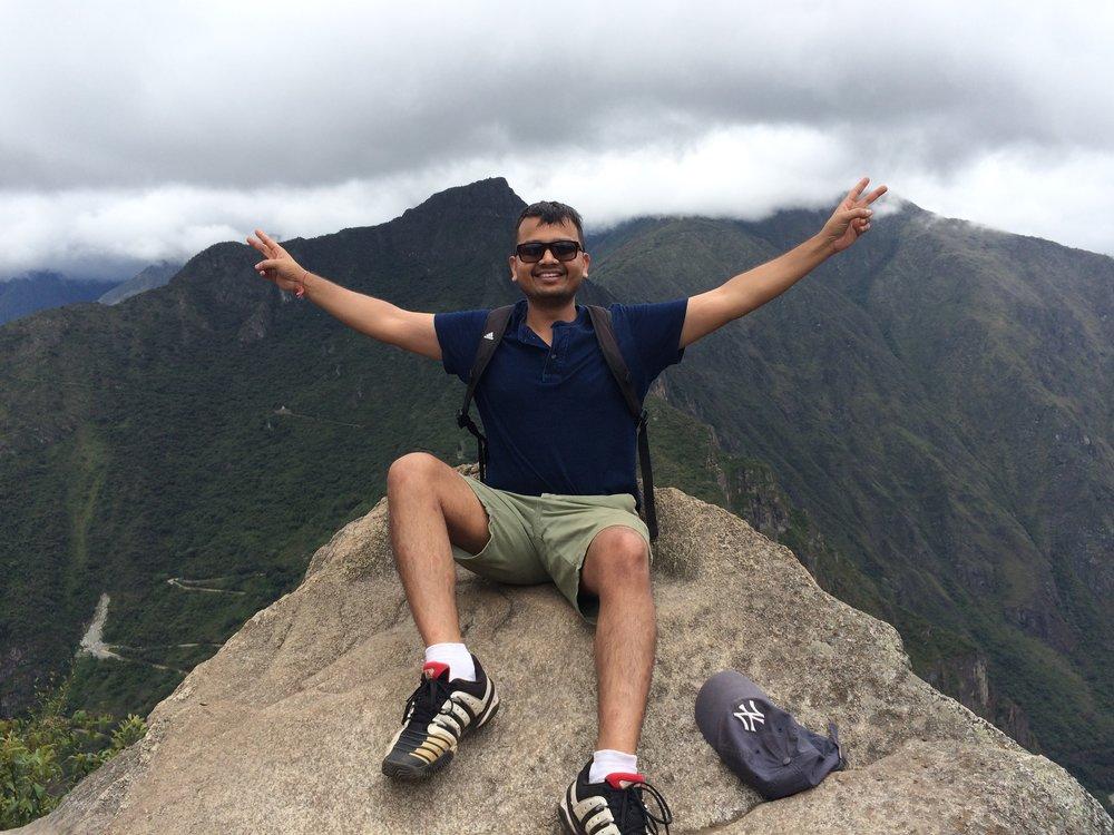 Summit of Wayna Pichu, Peru