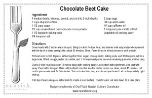 ChocolateBeet Cake