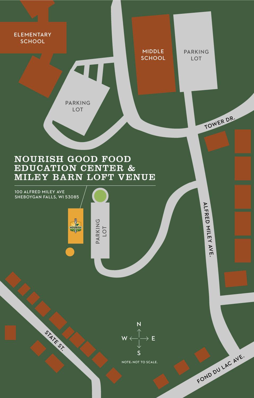 Nourish Good food education center and Miley barn loft venue