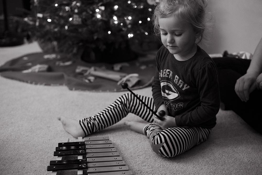 My niece enjoying her new instrument last year.