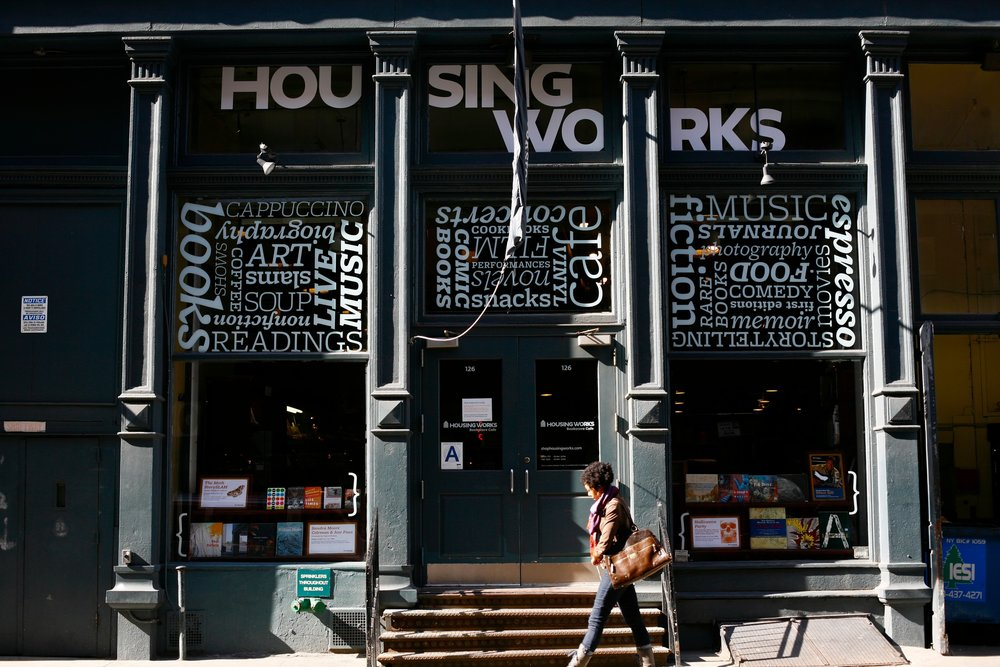 Housing Works Bookstore & Cafe (and nonprofit work)
