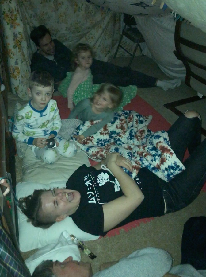Building forts with little kids