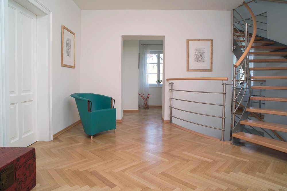 Parquet, Stockl Parkett solid oak herringbone