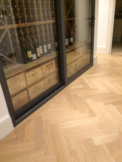 TRAP oak herringbone flooring