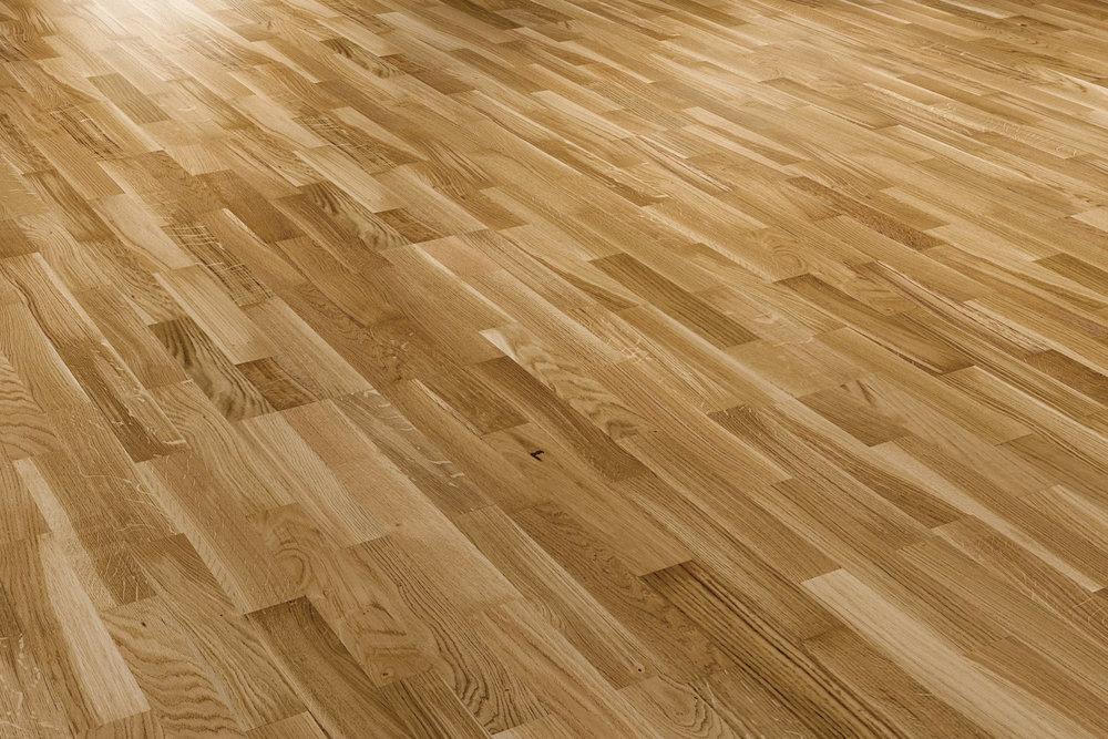 OCEANO 3-strip: oak - sanded and Natur oil - Viva grade