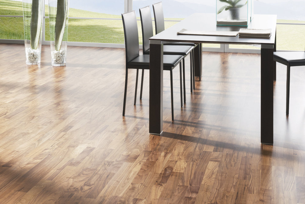 OCEANO 3-strip: American walnut - sanded and TwistPlus lacquer - Classic grade