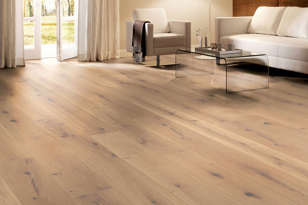 MARCANTO: mixed width oak, brushed & white oil finish