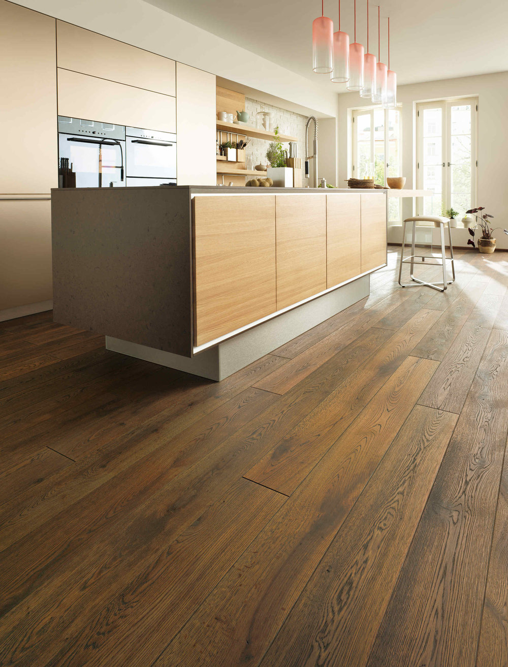 tilo single plank with 'antique' finish