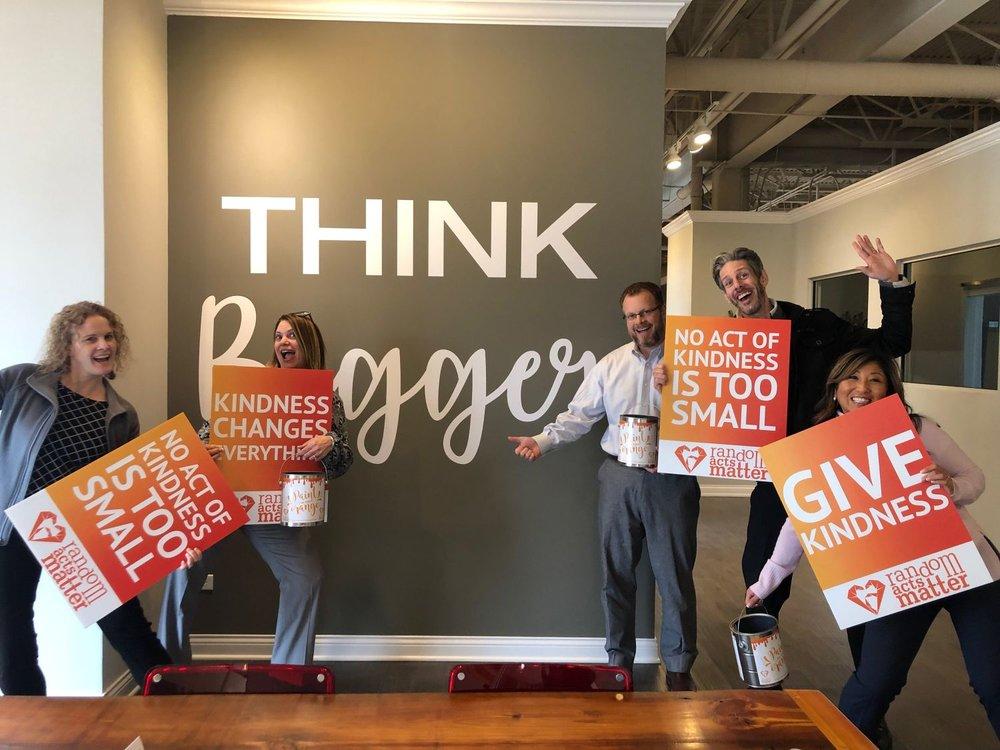 RAM volunteer Ryan Carney encouraging his coworkers!!