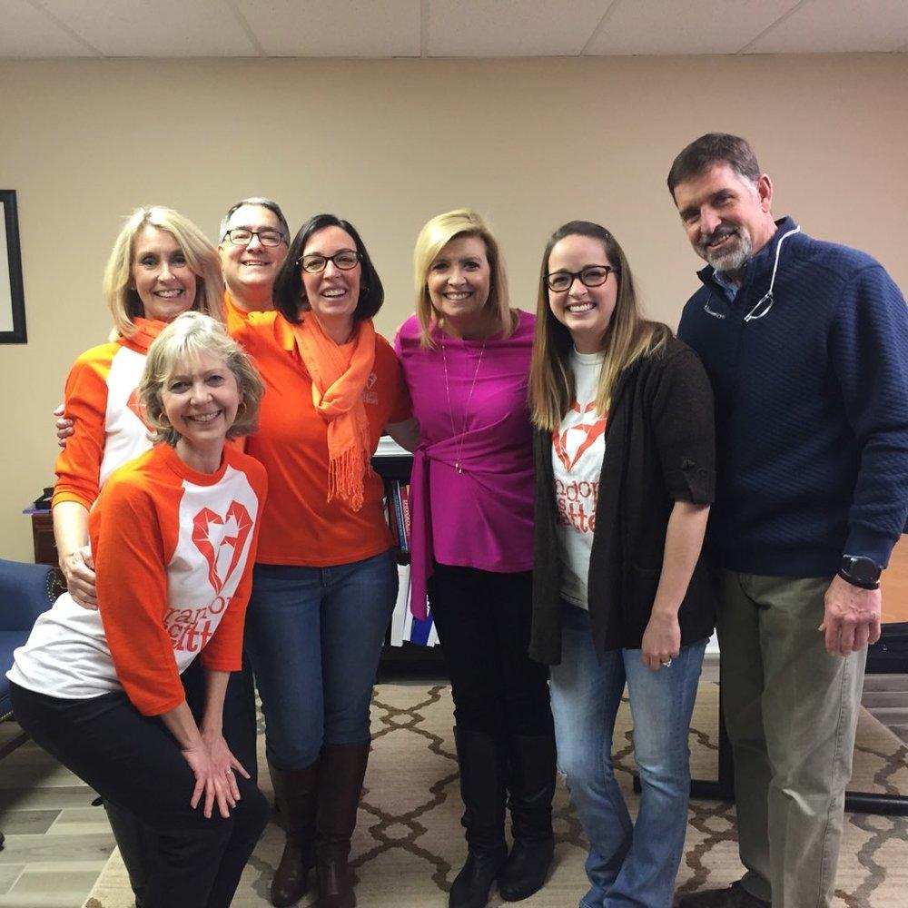 NBC's, Allison Rosati with the RAM team