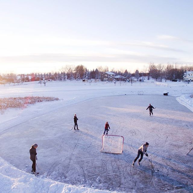 Outdoor ice skating - on ponds and man-made rinks - is a way of life in Canada. Recent warm winters have raised concerns about the future of reliable freezing temperatures in many parts of the US and Canada that have enjoyed outdoor skating in the winter for decades, if not centuries. #ActOnClimate #hockey #wintersports #climatechange #outdoorrink
