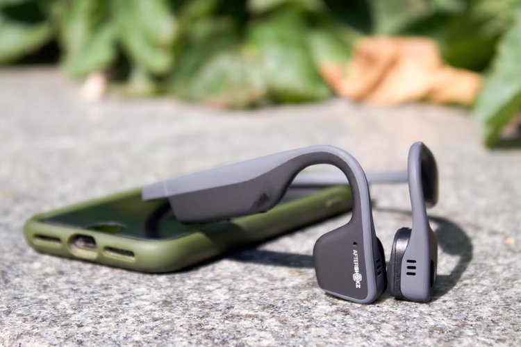 Aftershokz Trekz headphones.