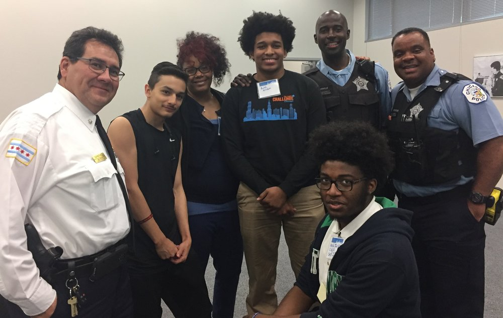 Students from high schools across the City of Chicago met with officers from their respective precincts to talk about youth and police relations.