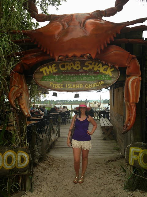 For dinner, we ate at the Crab Shack in Tybee Island. I loved the casual environment.