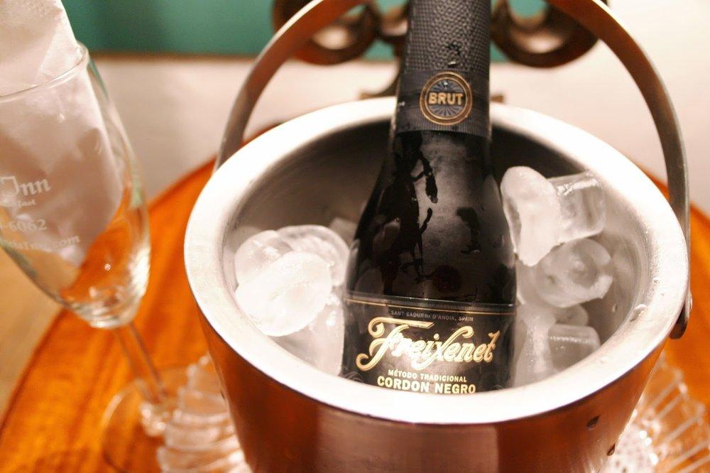 St. Augustine Wedding Anniversary, champagne