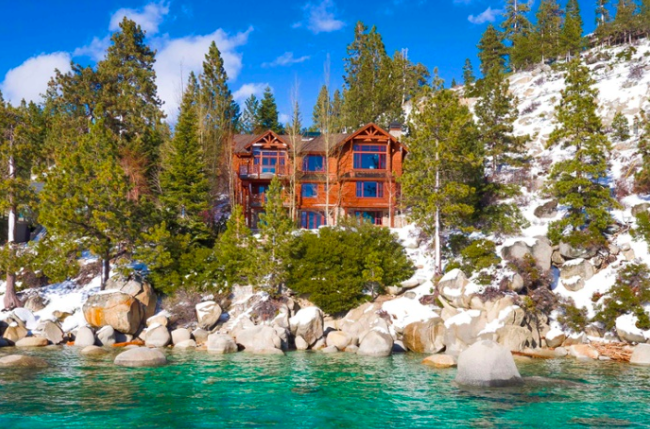 Lake Tahoe is the setting for this beautiful log home equipped for four-season recreation and entertaining.