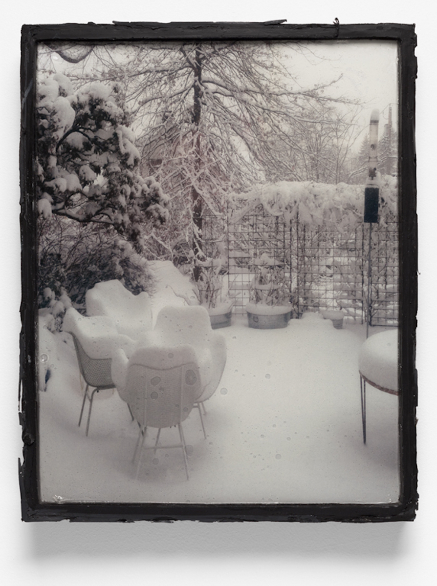 Framed Image (Patio in Black)