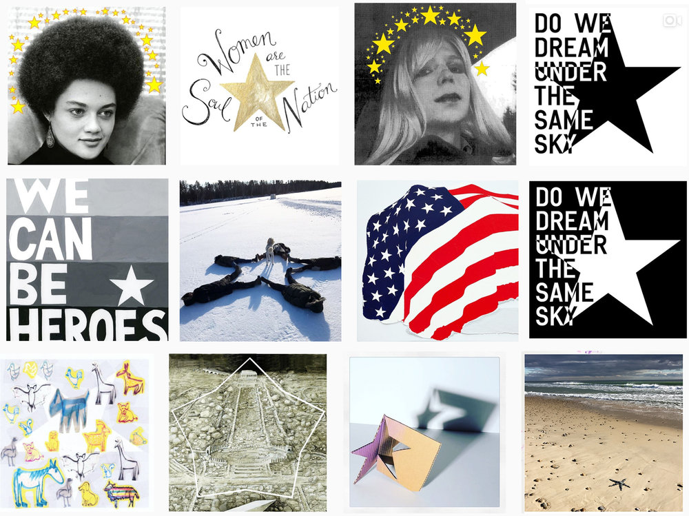 A selection of images from the #Starsofallstripes campaign. -
