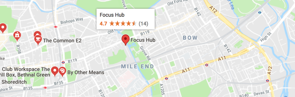 Where is Focus Hub, East London