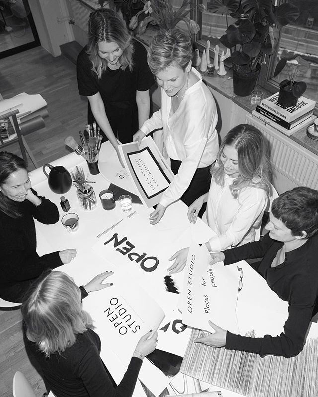 Open Studio is an open space for inspiration and creativity - here with architect Agneta, designer Molly and project manager Åsa.