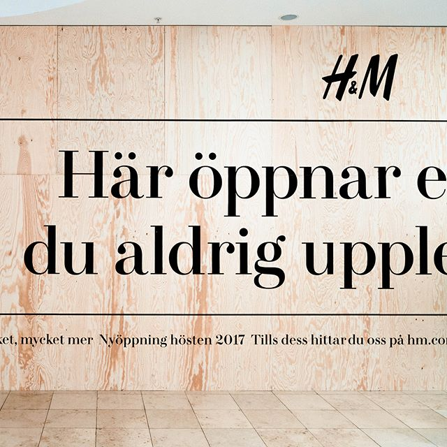 We've developed an @hm store like you've never experienced it before. It opens tomorrow at Karlaplan in Stockholm. We're quite proud of the space hidden behind the board, so we'd be happy if you'd come see it.