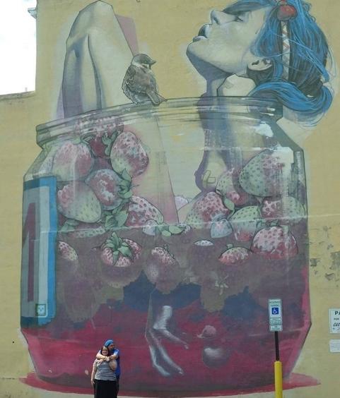 Saying goodbye to Richmond's street art. Photo by Joe Pollard.
