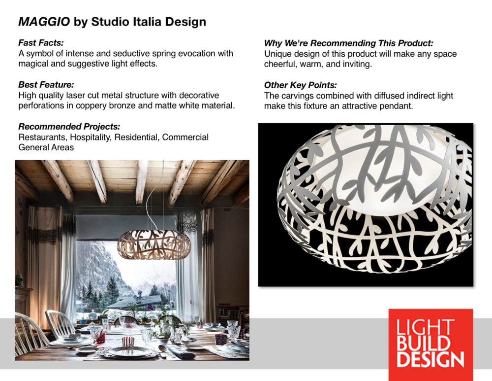 Maggio Studio Italia Design Light Build Design