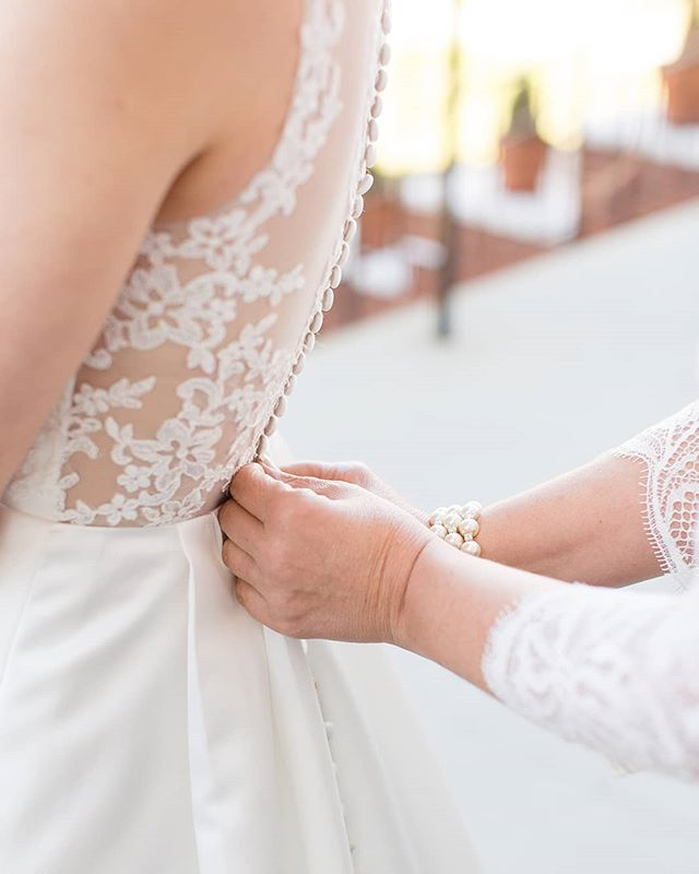 Last minute adjustments shot by Christa at Anna & Nic's wedding. Such a beautiful day! 📷:@christa_rene