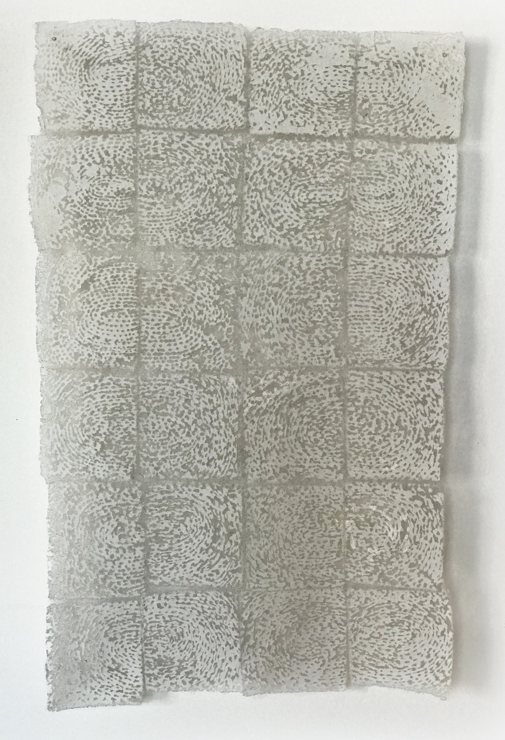 "Quietly   cotton, nylon 23"" x 14"" 2002"