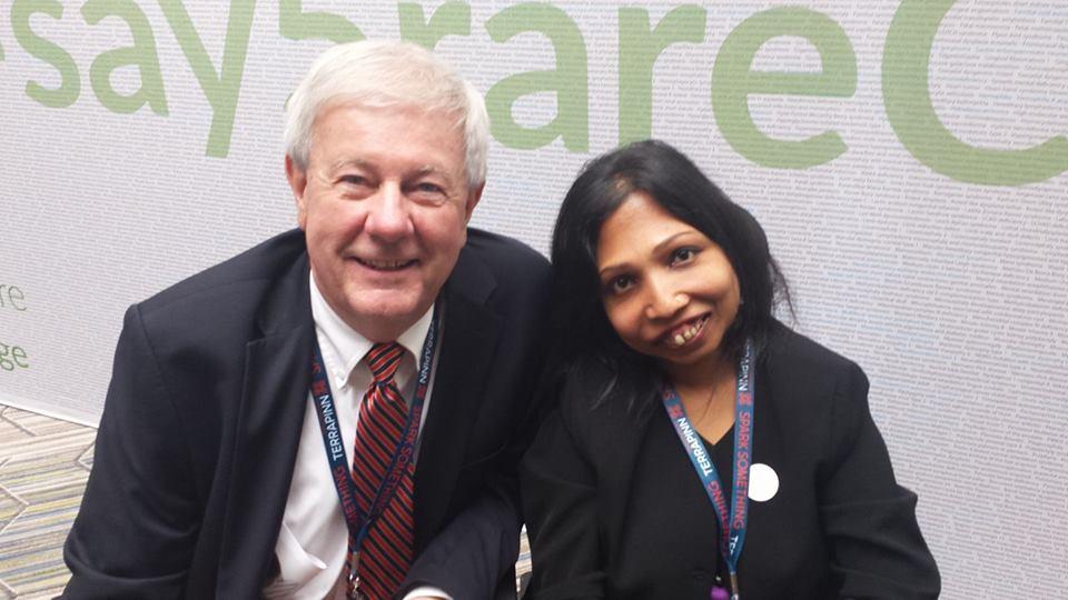 Dr. Groft and Neena Nizar