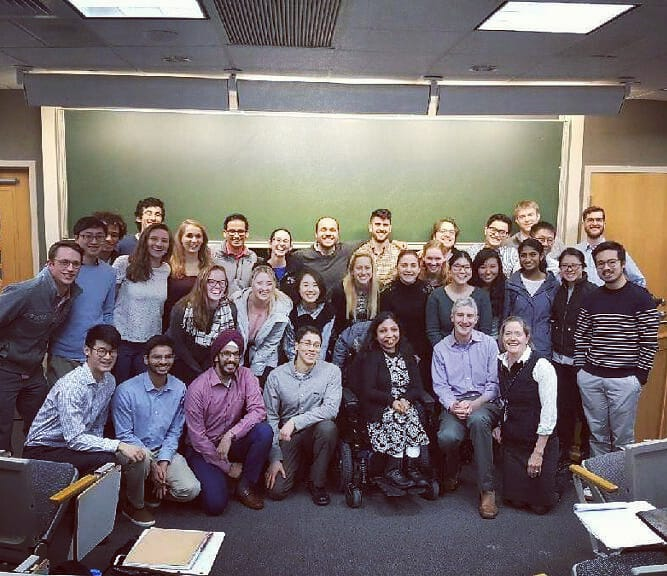 Bottom R-L: Dr. Mary L. Bouxsein, Dr. Marc Wein, & Neena Nizar, along with students of the first year musculoskeletal course, Harvard Medical School.
