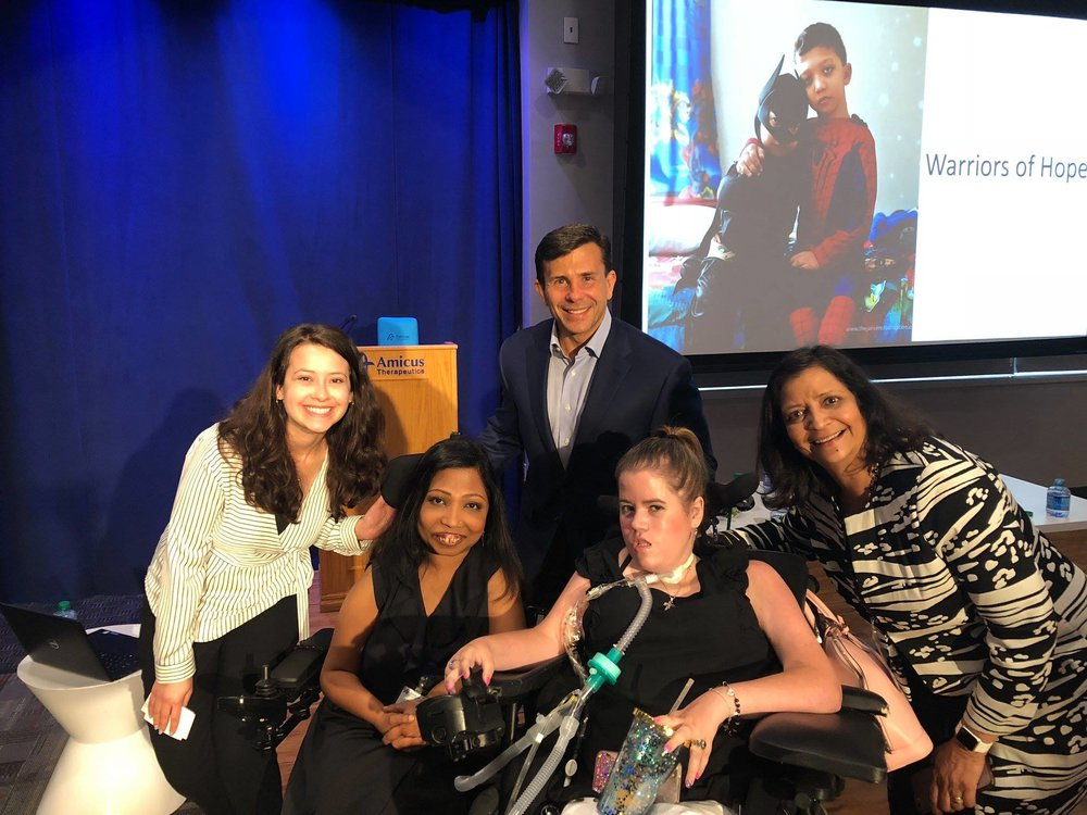 Abigail Barth, Dr. Neena Nizar, John Crowley. Megan Crowley, & Nita Patel at Amicus's lunch-and-learn,