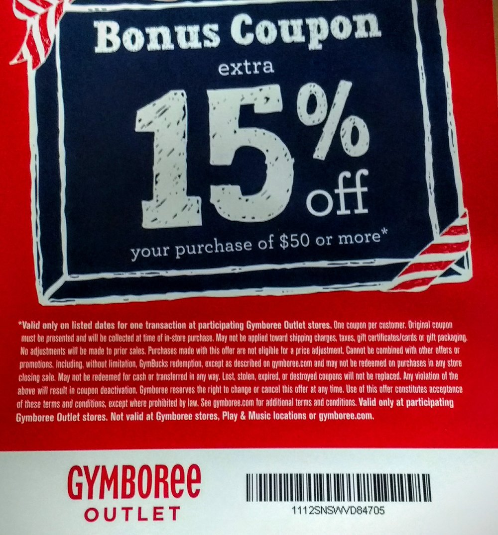 Bonus 15% off! Valid from 9 am-Noon on Black Friday ONLY! We can scan the coupon from your phone...no need to print.