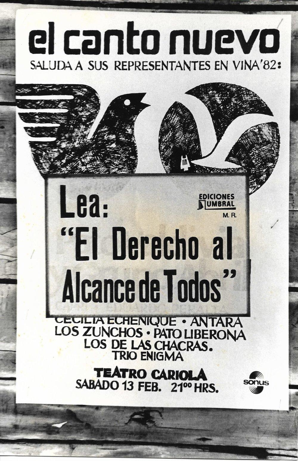 <span>'El Canto Nuevo'</span>