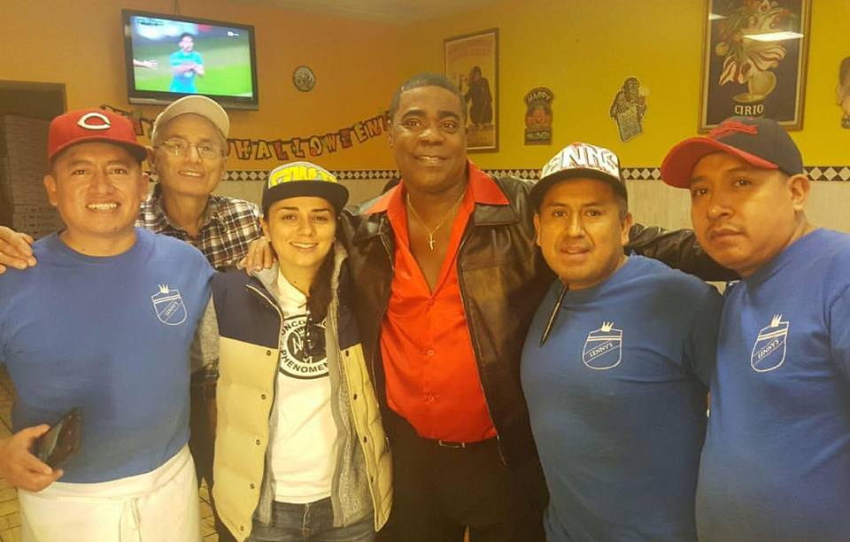 Tracy Morgan Filmed part of his Netflix Stayin Alive Show here at Lenny's Piza