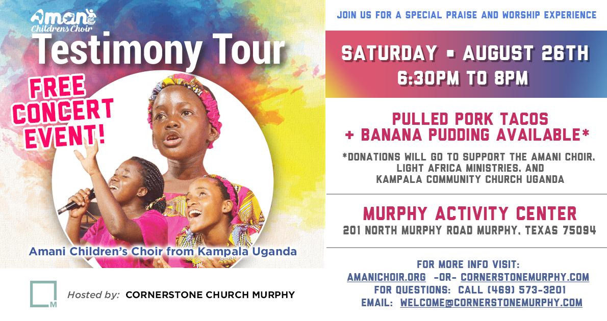 Amani Children's Choir Concert — Cornerstone Community
