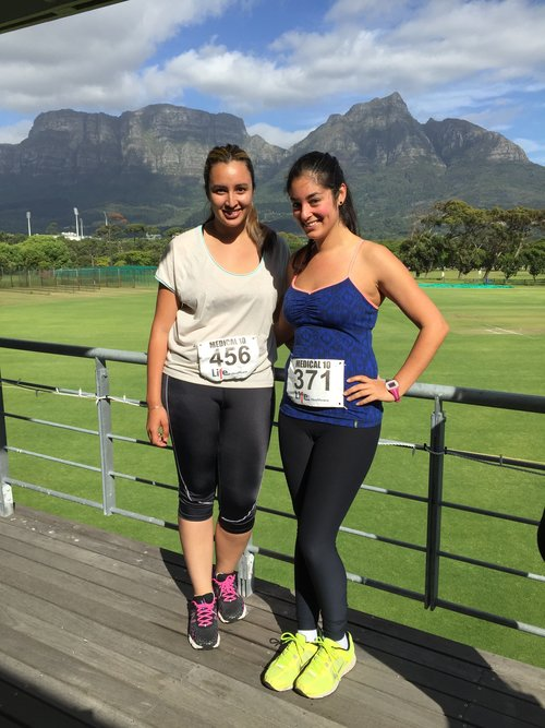 With my friend Robyn after my first 10K run in November 2015