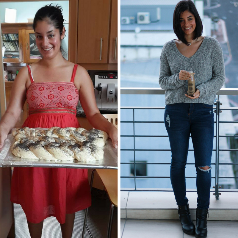 Left:  before I began eating a plant-based diet.      Right : 3-years later after losing 15kg's on a plant-based diet