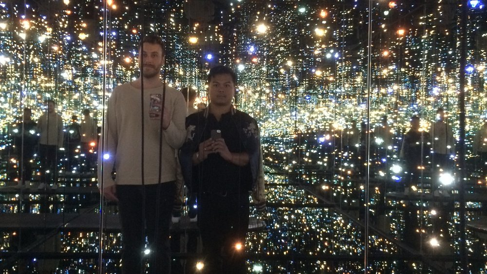 "Guests post an Instagram picture from inside ""The Infinity Mirrored Room"""