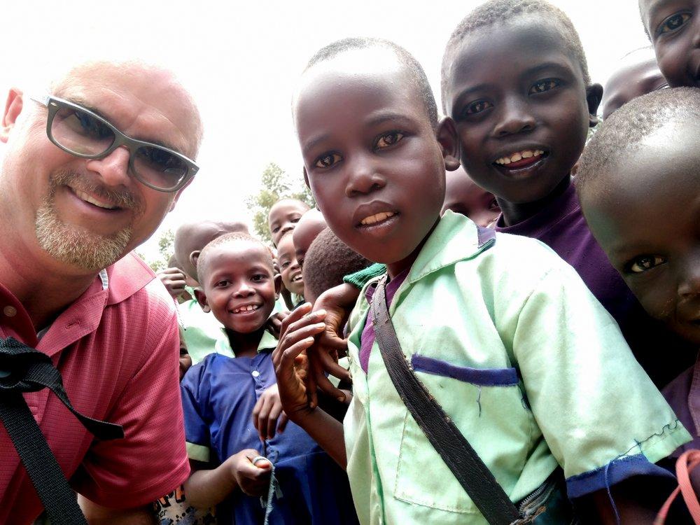 David's recent visit to JFM Sang'alo Church location of Malaha Primary School.