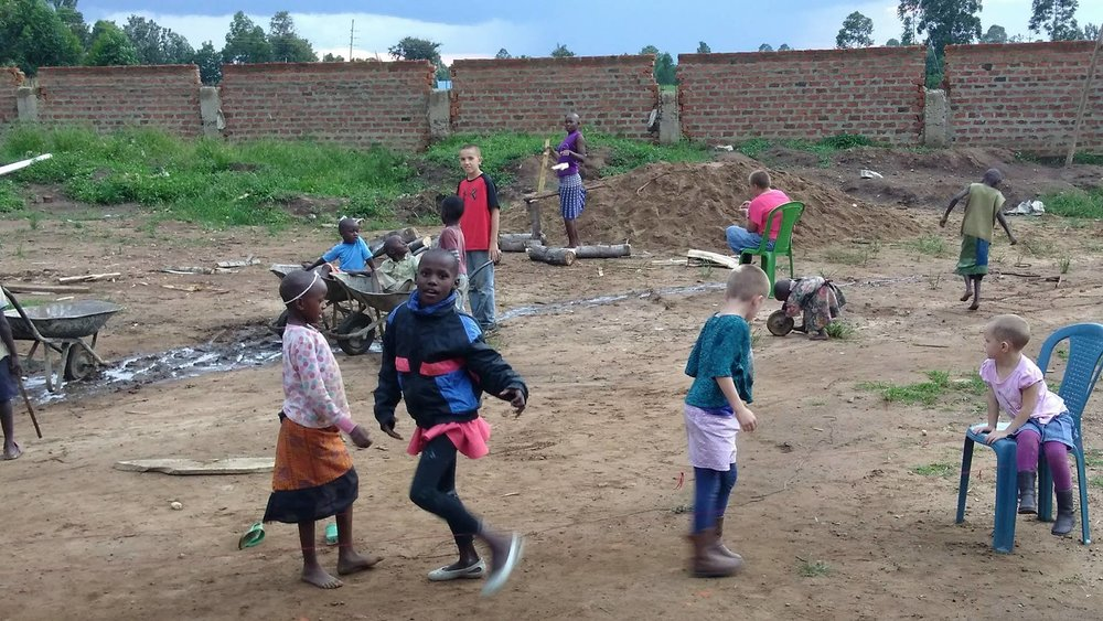 Some of the MCH kids playing in the yard.
