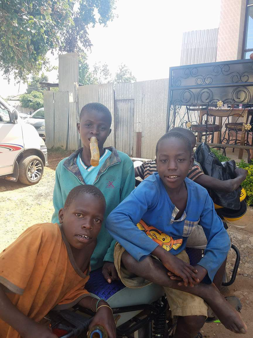 Thanks be to God and to some faithful supporters, 2 of the 3 boys you see here are now former street boys living here at Mercy Home! They have clean clothes to wear, good food to eat, a bed to sleep in, and are being discipled.