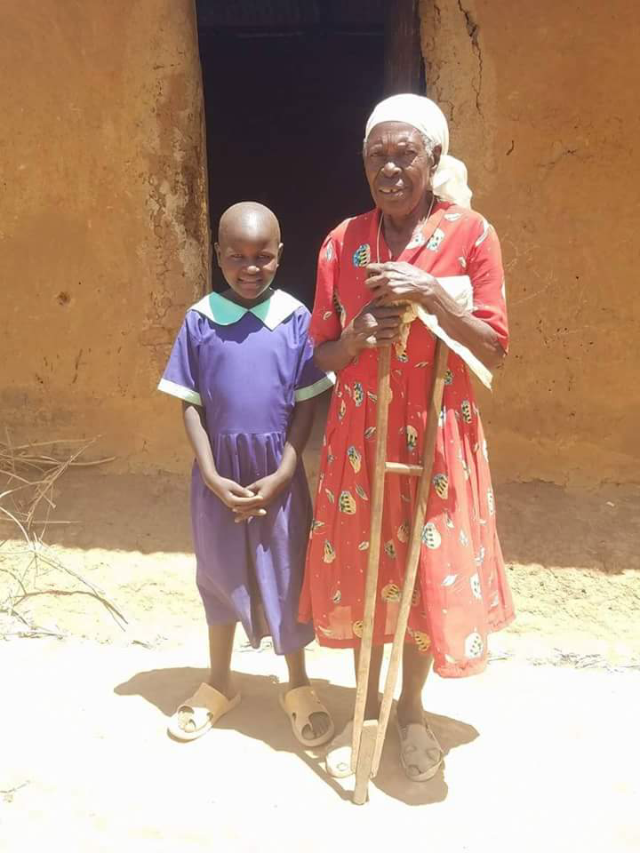 One of our sweet kiddos, Robai, pictured here with her elderly grandmother. We hope to build small apartments here at MCH for Victoria and some other local widows to give them a safe, caring place to call home.