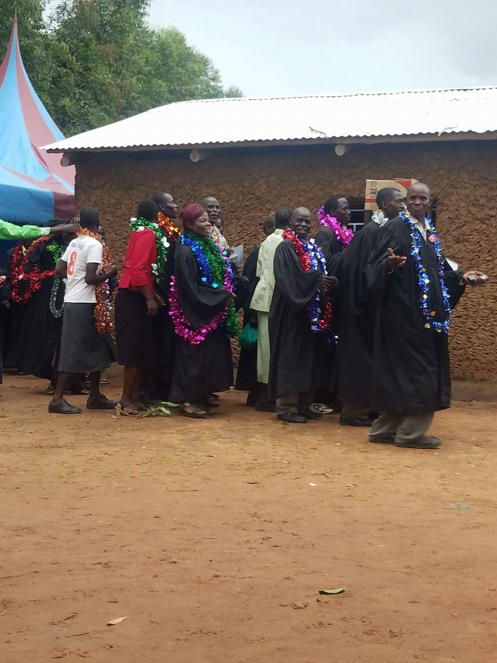 A recent Sharon Bible School graduation ceremony