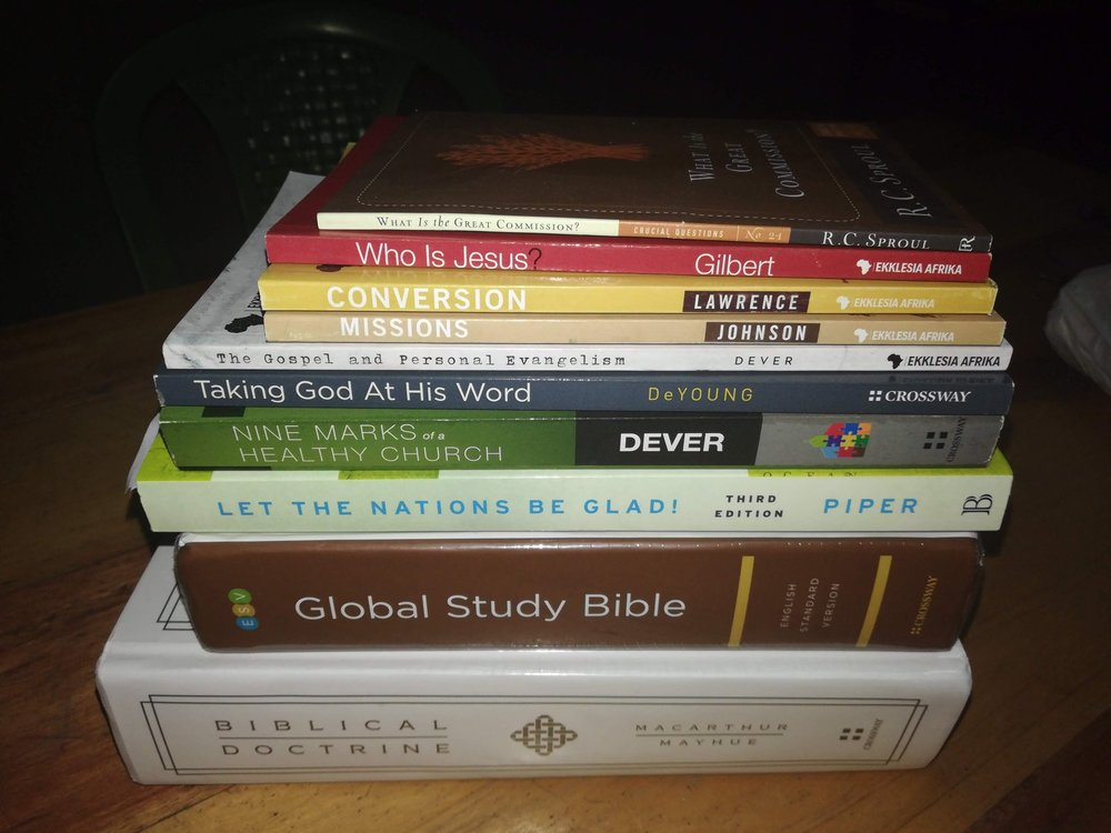 All 8 pastors that attended with me were able to take home each of these resources. I was able to take a set for the library at MCH as well!