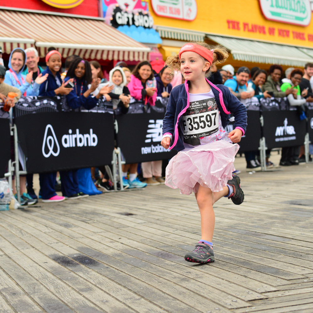 746 - Finishers in the third-annual NYRR Youth Boardwalk Run at the Airbnb Brooklyn Half.