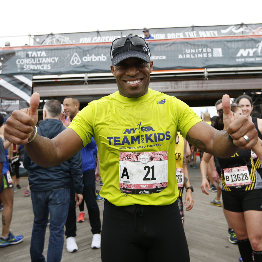 21 - The number former New York Giants running back Tiki Barber wore during his career—and also his bib number during Saturday's race, where he secured a half-marathon PR.
