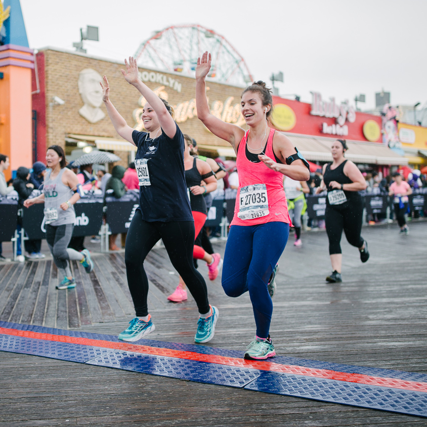 496 - More female finishers than male. The 2017 Airbnb Brooklyn Half marked the fourth consecutive year that women finishers outnumbered men.