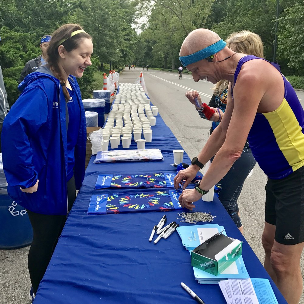 1,700 - The number of runners who stopped by hydration stations in Van Cortlandt Park, Prospect Park, Central Park, Flushing Meadows Corona Park, and Clove Lakes Park. In the evening, 400 NYRR Open Run participants ran to post-race pizza in Astoria Park, Brooklyn Bridge Park, Inwood Hill Park, Silver Lake Park, and St. Mary's Park.